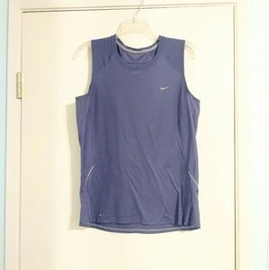 Nike Fit Dry Periwinkle Athletic Tank with Mesh